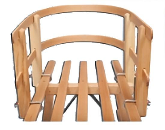 schlittenlehne f r h rnerrodel holz holzschlitten schlitten lehne r ckenlehne ebay. Black Bedroom Furniture Sets. Home Design Ideas