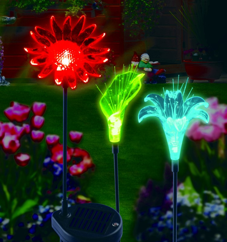 3er set solar gartenstecker leuchtst be solarlampen solarleuchte garten lampe ebay. Black Bedroom Furniture Sets. Home Design Ideas