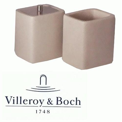 Zahnputzbecher 2tlg Set Villeroy & Boch Keramik Deko Dose