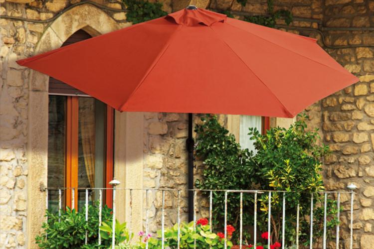 Balkon Sonnenschirm Halbrund Kurbel Gartenschirm