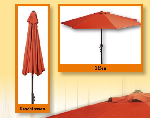 balkon sonnenschirm terracotta halbrund kurbel gartenschirm sonnenschutz schirm ebay. Black Bedroom Furniture Sets. Home Design Ideas