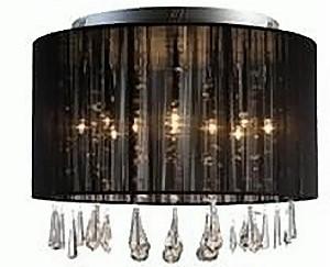 vega deckenlampe 46x35cm deckenleuchte stoff lampe mit. Black Bedroom Furniture Sets. Home Design Ideas