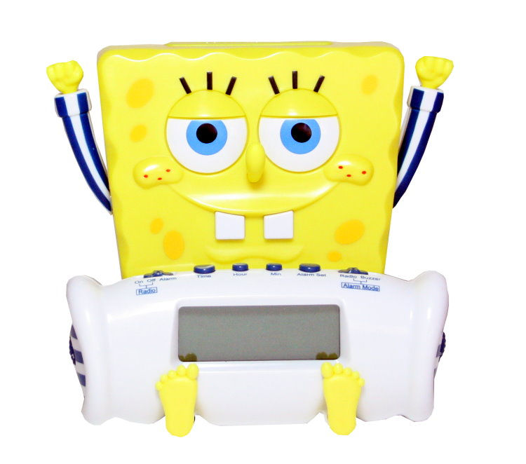 carrera spongebob schwammkopf kinder radiowecker wecker. Black Bedroom Furniture Sets. Home Design Ideas