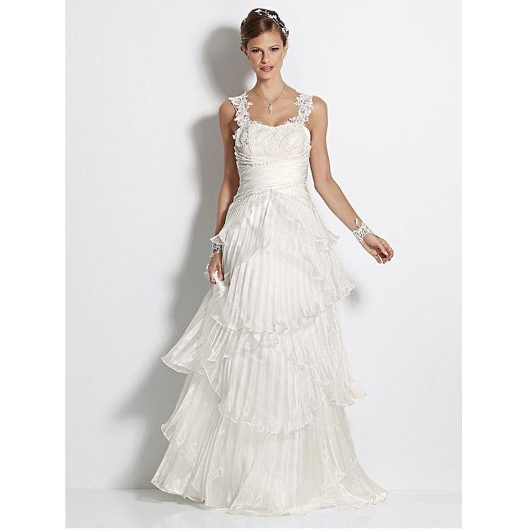 Heine Brautkleid Spitze Hochzeitskleid creme Gr. 36 Kleid Abendkleid ...