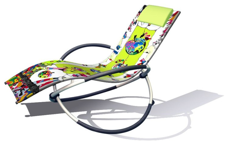 leco art designer schaukelstuhl sonnenliege gartenliege garten relaxstuhl ebay. Black Bedroom Furniture Sets. Home Design Ideas