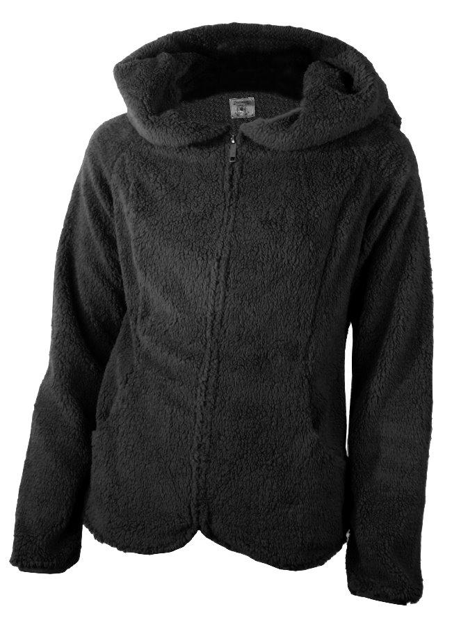 Damen-Teddyfleece-Pullover-Kuschel-Fleece-Jacke-Gr-XS-S-34-36-Sweatjacke-Hoodie