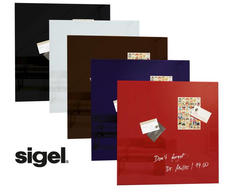 sigel 48x48cm glas magnetboard magnetwand pinnwand magnettafel tafel magnete ebay. Black Bedroom Furniture Sets. Home Design Ideas