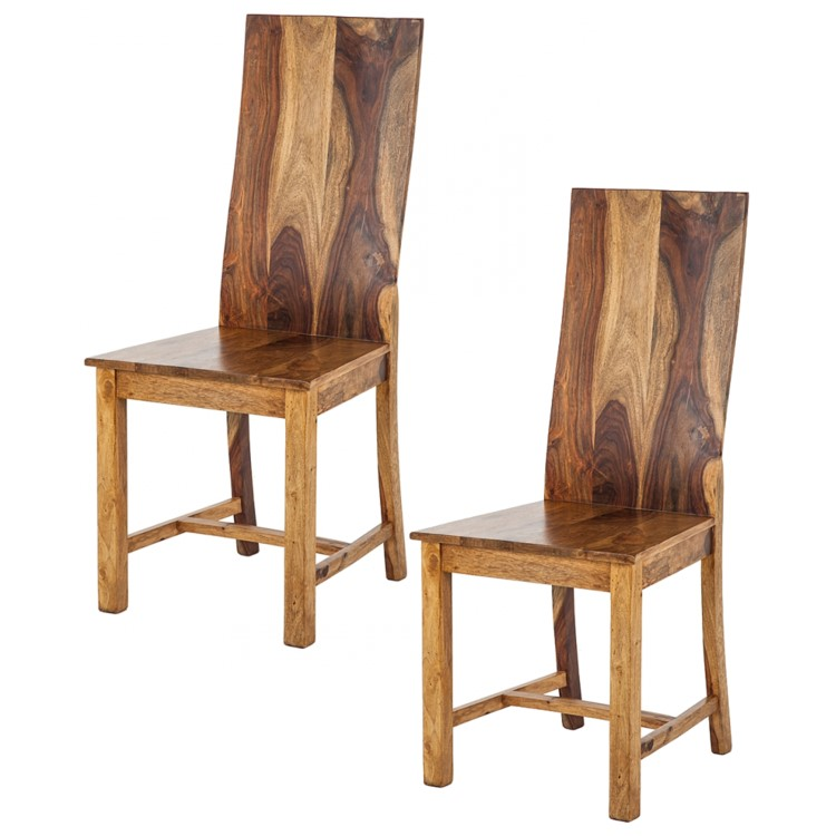 2x esszimmerstuhl andaman sheesham massiv honigfarben dunkel holz stuhl stuhlset ebay. Black Bedroom Furniture Sets. Home Design Ideas