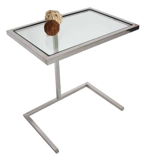 Design soha sofatisch glastisch edelstahl tisch couchtisch for Glastisch couchtisch design