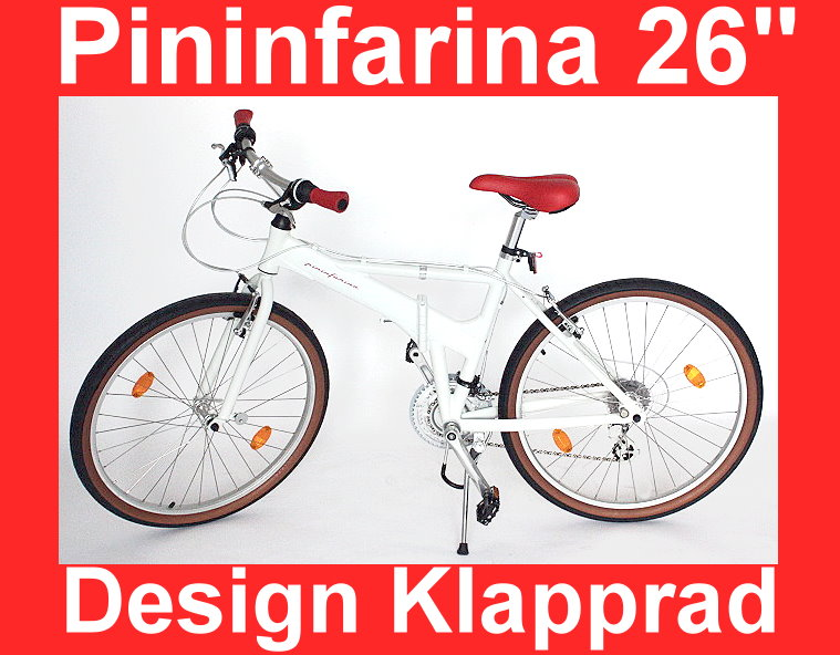 designer pininfarina city klapp fahrrad 26 zoll klapprad. Black Bedroom Furniture Sets. Home Design Ideas