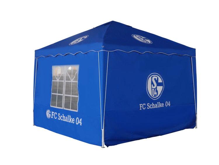 fc schalke 04 faltpavillon 3x3 partyzelt festzelt garten fussball klapp pavillon ebay. Black Bedroom Furniture Sets. Home Design Ideas
