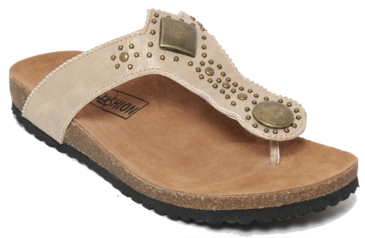 Damen-Bio-Pantoletten-Sandaletten-Kork-Fussbett-Roemer-Sandalen-Schuhe-EVA-Sohle