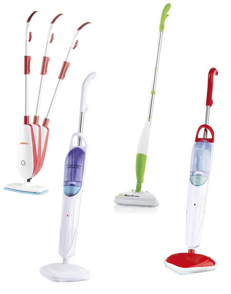 Clean-Maxx-Dampfbesen-Microfasertuch-Teppichgleiter-Cleanmaxx-Dampfreiniger