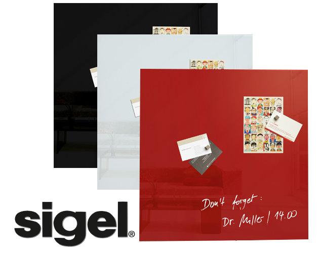 sigel glas magnetboard artverum 48x48cm glasboard pinnwand magnet tafel wand ebay. Black Bedroom Furniture Sets. Home Design Ideas