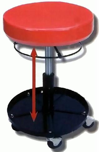 cartrend montagehocker werkstatthocker arbeitshocker h henverstellbar rollen ebay. Black Bedroom Furniture Sets. Home Design Ideas