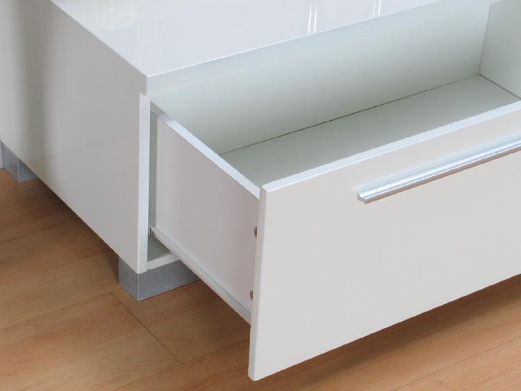 tv schrank samos hifi lowboard wei hochglanz tisch neu. Black Bedroom Furniture Sets. Home Design Ideas