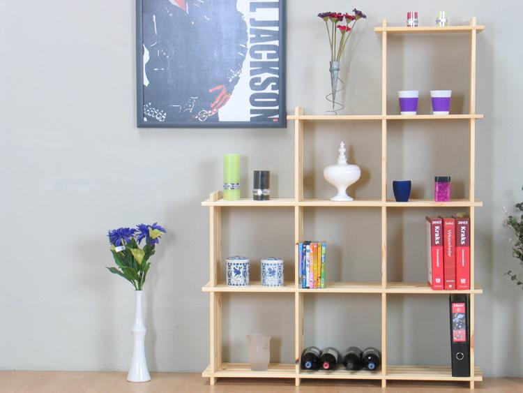 massive wohnwand universal regal kiefer b cherregal. Black Bedroom Furniture Sets. Home Design Ideas