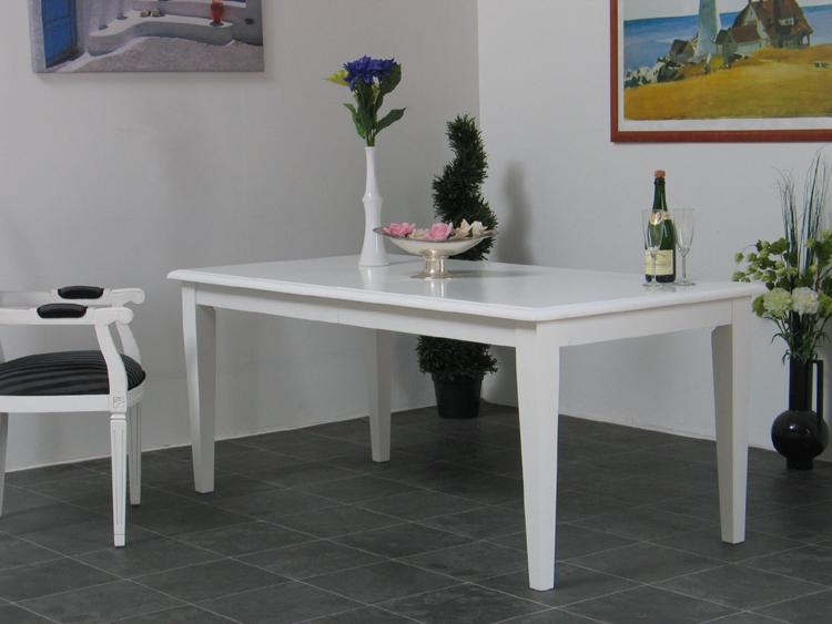 Esstisch ausziehbar 90x180 235 cm wei esszimmer tisch mit for Esstisch 90x180