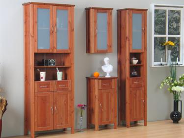 badm bel badezimmer hochschrank venedig cognac neu ebay. Black Bedroom Furniture Sets. Home Design Ideas