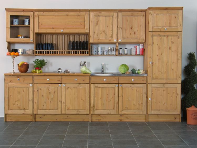 massive k chenzeile bornholm k chenblock k che 313cm ebay. Black Bedroom Furniture Sets. Home Design Ideas