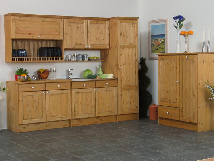 Massive Küche 251cm + 100cm Bornholm Küchenzeile Spüle | eBay