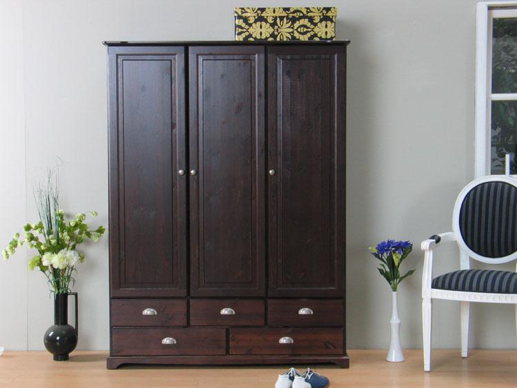 3tr kleiderschrank mauri schrank massiv kiefer kolonial ebay. Black Bedroom Furniture Sets. Home Design Ideas