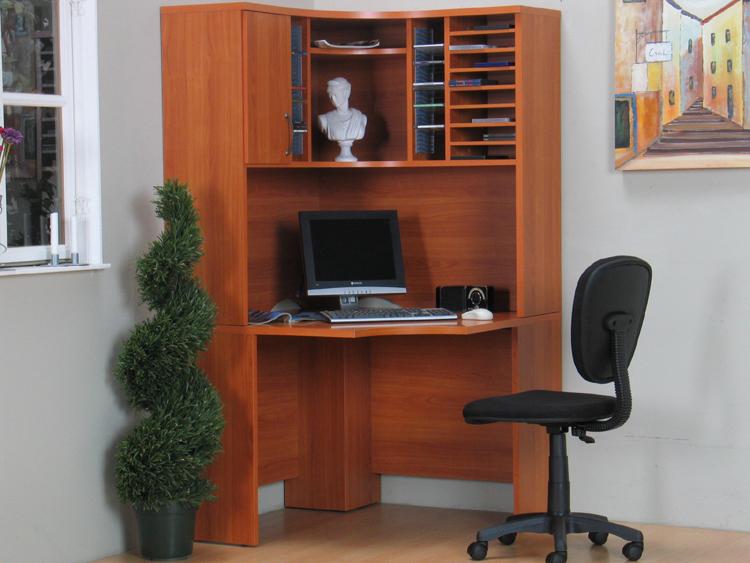 eckschreibtisch schreibtisch kirsch pc tisch neu ebay. Black Bedroom Furniture Sets. Home Design Ideas