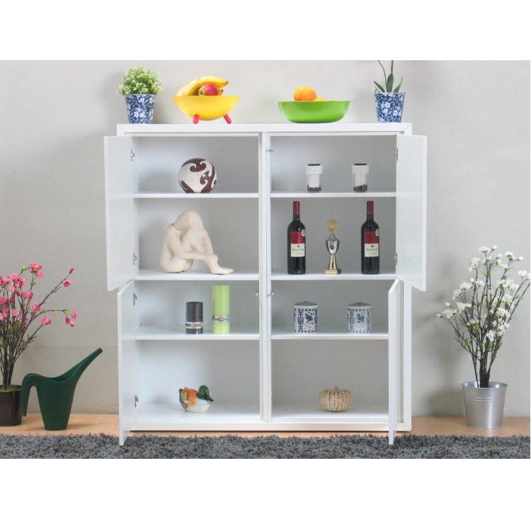 Kommode quadra sideboard highboard buffet flur dielen for Kommode quadra