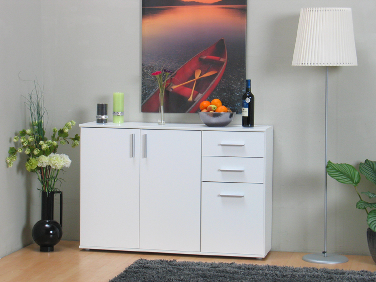 kommode 2 schubladen landhaus weiss sideboard mit holz schrank shabby massiv neu ebay. Black Bedroom Furniture Sets. Home Design Ideas