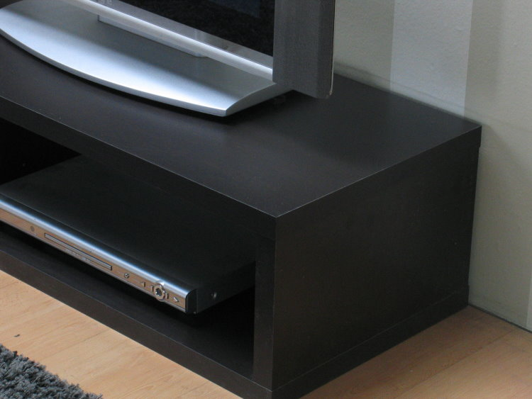 2tlg regal flexo tv board tv hifi schrank fernsehschrank sideboard braun ebay. Black Bedroom Furniture Sets. Home Design Ideas