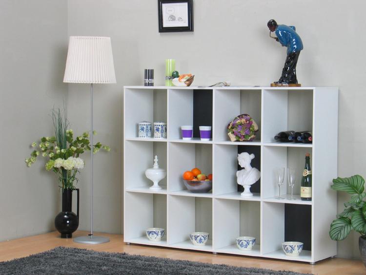 raumteiler chess mit 12 f chern sideboard wei regal. Black Bedroom Furniture Sets. Home Design Ideas