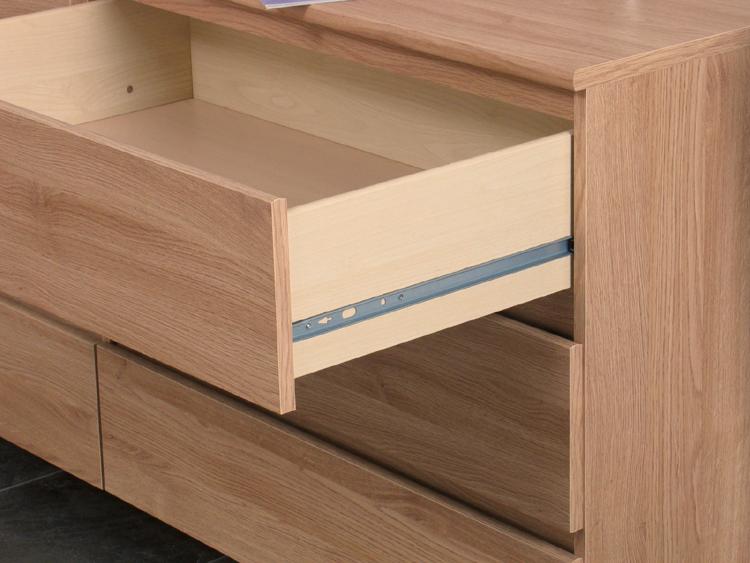 kommode kopenhagen sideboard schrank lowboard eiche neu ebay. Black Bedroom Furniture Sets. Home Design Ideas