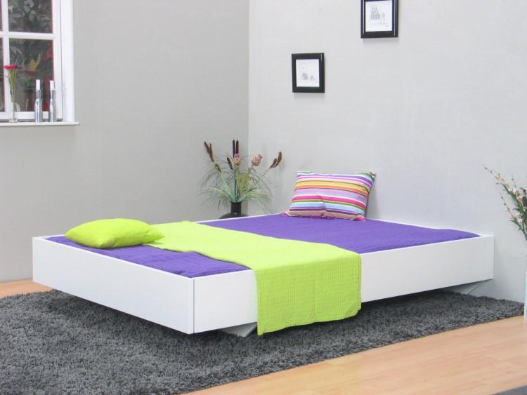 doppelbett copenhagen 140x200 ehebett holzbett futonbett schlafzimmer bett wei ebay. Black Bedroom Furniture Sets. Home Design Ideas