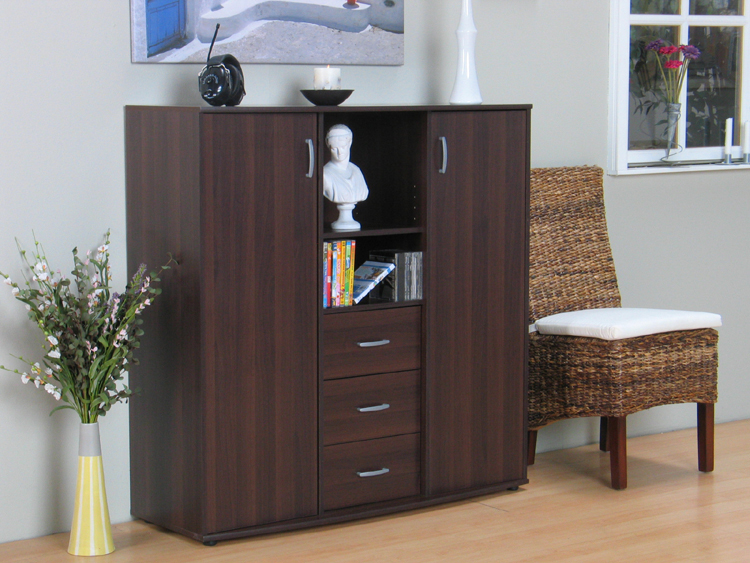 highboard sideboard schrank vitrine kommode kolonial neu. Black Bedroom Furniture Sets. Home Design Ideas