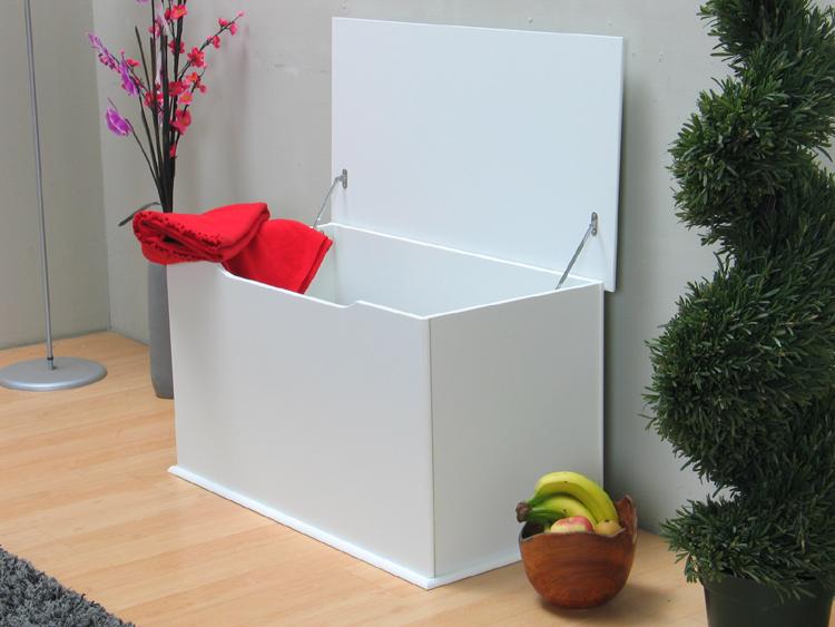 holztruhe holzkiste truhe aufbewahrungstruhe kiste box wei neu ebay. Black Bedroom Furniture Sets. Home Design Ideas