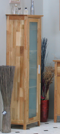 badezimmer hochschrank sylt walnuss massiv neu ebay. Black Bedroom Furniture Sets. Home Design Ideas