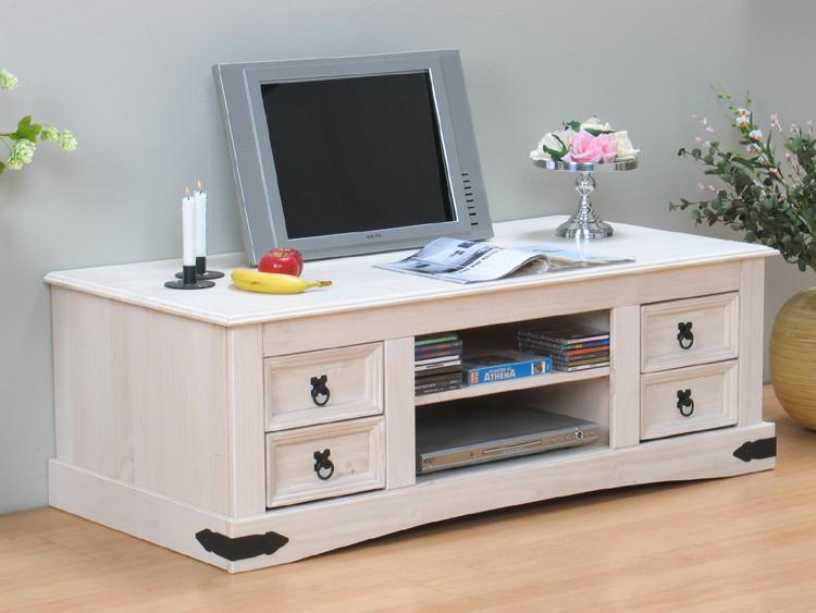 kiefer tv schrank mexico massiv tisch hifi wei neu ebay. Black Bedroom Furniture Sets. Home Design Ideas