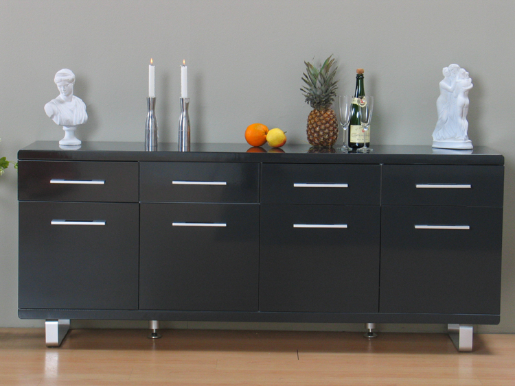 hochglanz pisa sideboard anrichte kommode anthrazit neu ebay. Black Bedroom Furniture Sets. Home Design Ideas