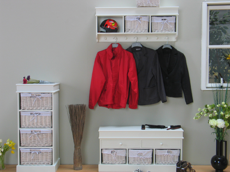 garderobe wandgarderobe mia weiss lackiert k rbe neu. Black Bedroom Furniture Sets. Home Design Ideas