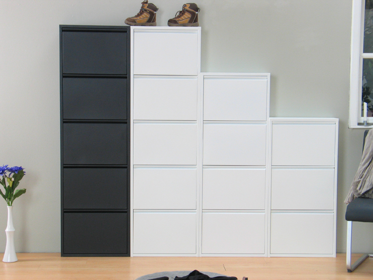 schuhschrank plaza schuhkipper schuhe metall dielen flur schrank kipper wei. Black Bedroom Furniture Sets. Home Design Ideas