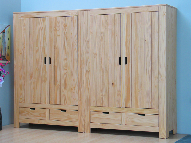 kleiderschrank schrank tobias 4trg kiefer massiv neu ebay. Black Bedroom Furniture Sets. Home Design Ideas