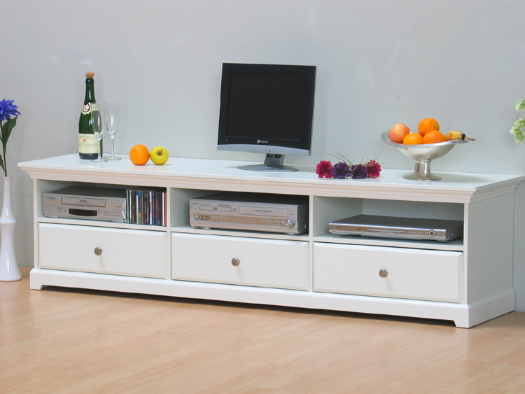fernsehtisch tv tisch lowboard nice hifi m bel kommode weiss neu ebay. Black Bedroom Furniture Sets. Home Design Ideas