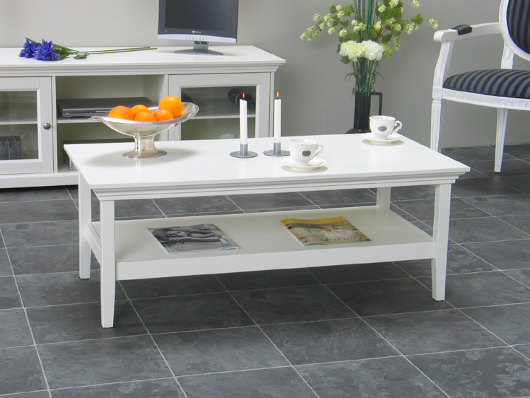 Couchtisch Nice Tisch Wohnzimmertisch weiß lackiert Neu  eBay