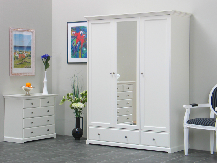 3trg kleiderschrank nice spiegel schrank schubladen ebay. Black Bedroom Furniture Sets. Home Design Ideas