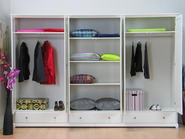 nice kleiderschrank schrank 6 trg mit spiegel weiss neu ebay. Black Bedroom Furniture Sets. Home Design Ideas