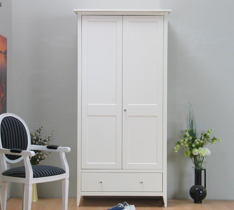 2trg kleiderschrank mayflower schrank wei lackiert neu ebay. Black Bedroom Furniture Sets. Home Design Ideas