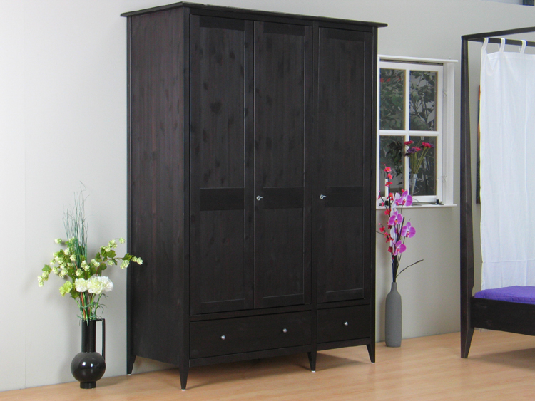3trg schrank mayflower kleiderschrank kiefer massiv neu ebay. Black Bedroom Furniture Sets. Home Design Ideas