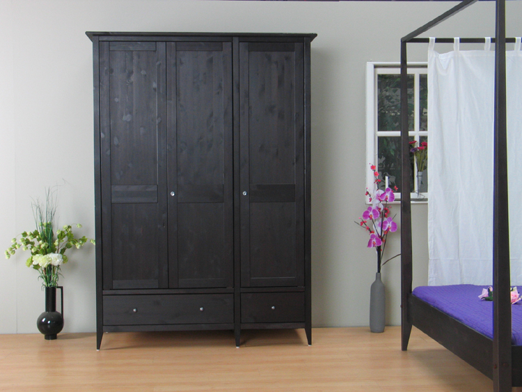 3trg schrank mayflower kleiderschrank kiefer massiv neu ebay. Black Bedroom Furniture Sets. Home Design Ideas