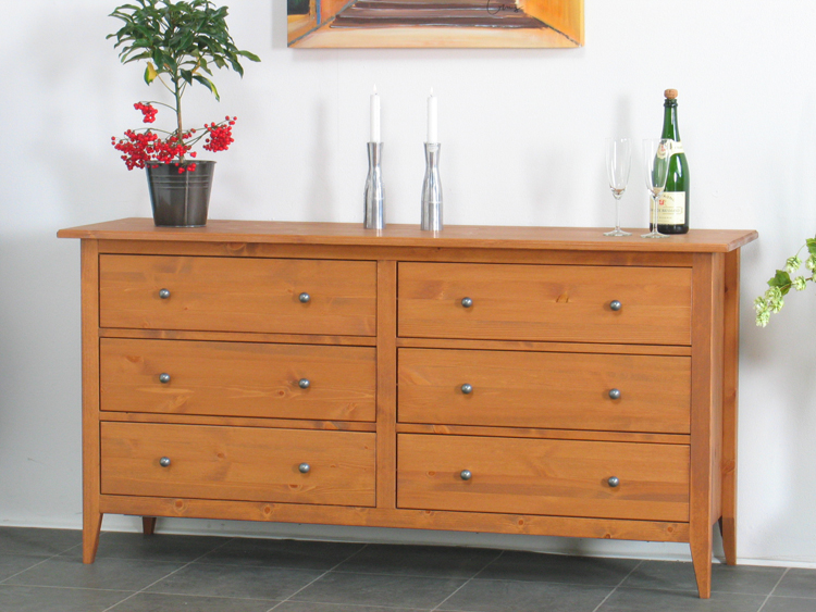 sideboard mayflower massiv kiefer kommode kolonial neu ebay. Black Bedroom Furniture Sets. Home Design Ideas
