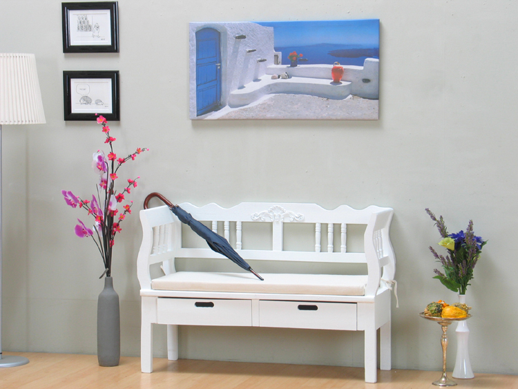 sitzbank baham 120cm bank massiv schublade kissen. Black Bedroom Furniture Sets. Home Design Ideas